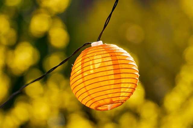 Lampioon Lichterkette Außenbereich