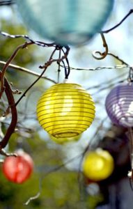 LED Lampion Lichterkette
