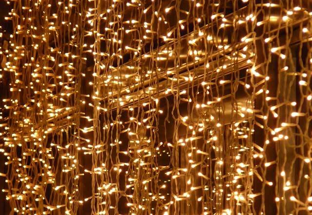Lichterkette Vorhang