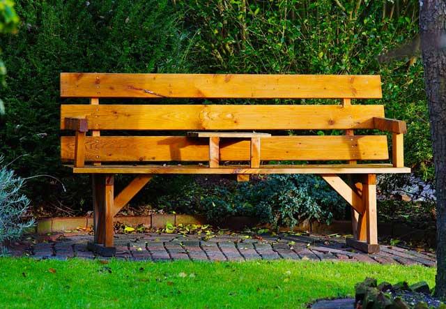 Gartenbank mit Tisch für 2 Personen