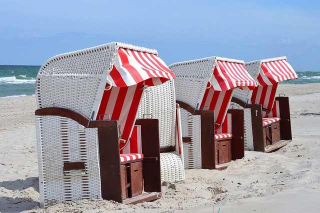 Wetterfeste Strandkörbe sind nicht nur an der See beliebt
