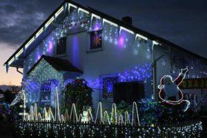 Lichterkette Eisregen als Weihnachtsbeleuchtung