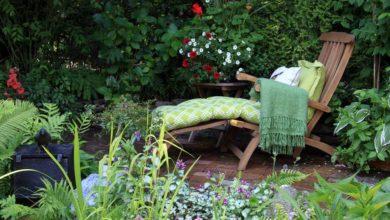 Photo of Gartenstuhl mit Fußteil